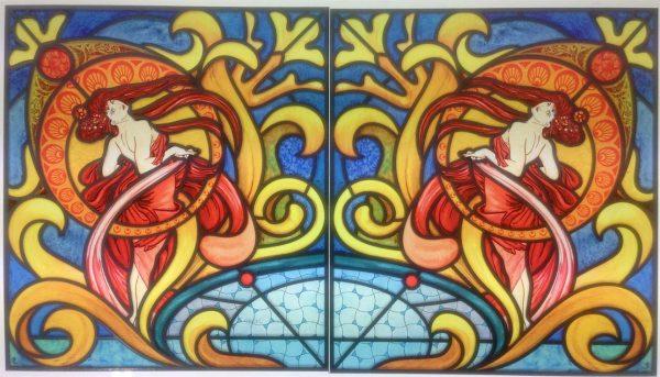 Fensterpanel Buntglasfensterdekor