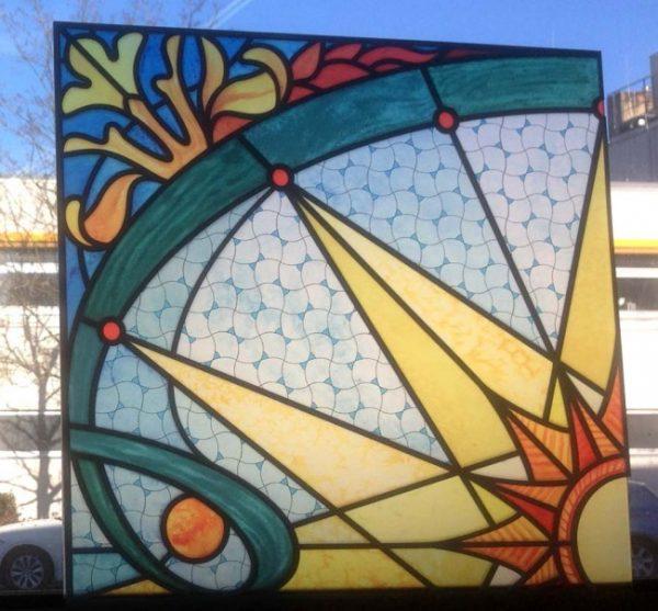 Fensterpanel Buntglasfenster