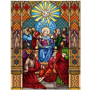 Buntglasfenster Kirchenfenster als Sichtschutz und Fensterdekor - Kirchenfenster Motiv
