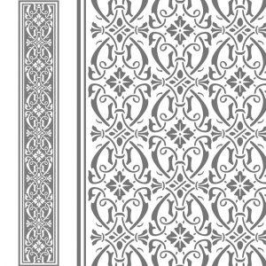 Fensterfolie Glasdekor Bordüre oder auch Borte, Fensterdeko, Raumgestaltung, Glasdekor, Muster