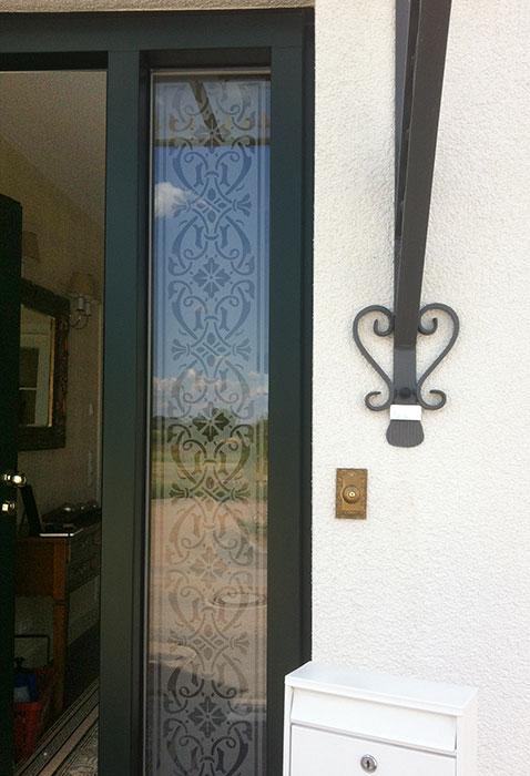 glasdekor bordüre, Fensterfolie, Fensterdeko, Raumgestaltung, Glasdekor, Muster