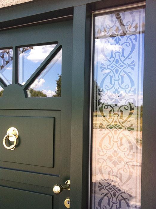 Fensterfolie, Bordüre, Fensterdeko, Raumgestaltung, Glasdekor, Muster