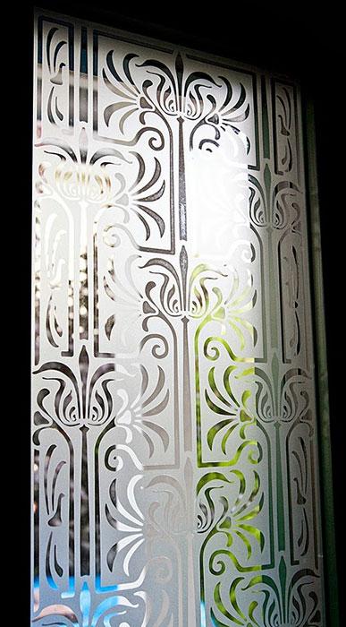 Musselinglas, Fensterfolie, Fensterdeko, Raumgestaltung, Glasdekor, Muster