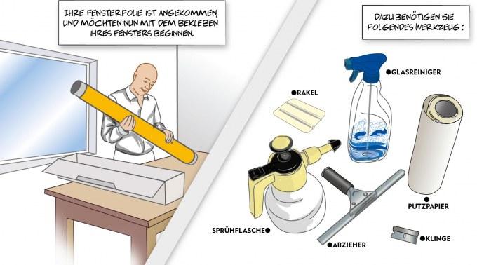 Verklebeanleitung Nassverklebung, Fensterfolien, Glasdekor, Nassverklebung, pdf, Colorfol, Anleitung