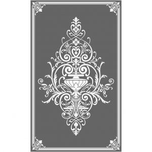 Glasdekorfolie, Viktorianisch, Sichtschutz, Äzglas, Milchglas, Ornament