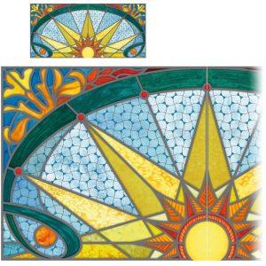 Fensterpanel Oberlicht Buntglasfenster