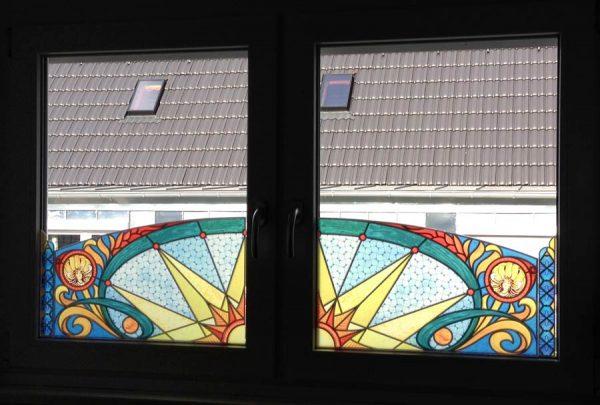 Buntglas Fenster, Fensterpanel Buntglasfenster
