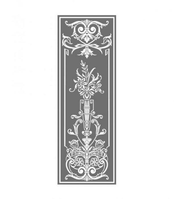 Fensterdekoration, Glasdekorfolie, Viktorianisch, Sichtschutz, Äzglas, Milchglas, Ornament