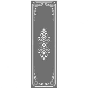 Glasdekor Ornament im viktoriansichen Stil