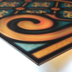 Buntglasfenster aus Plexiglas fertig auf 3mm Acrylglas aufkaschiert