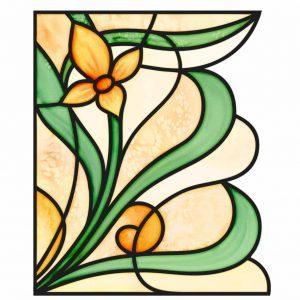 Fensterfolie Fensterdekor Sichtschutz artdeco Buntglas Dekoration