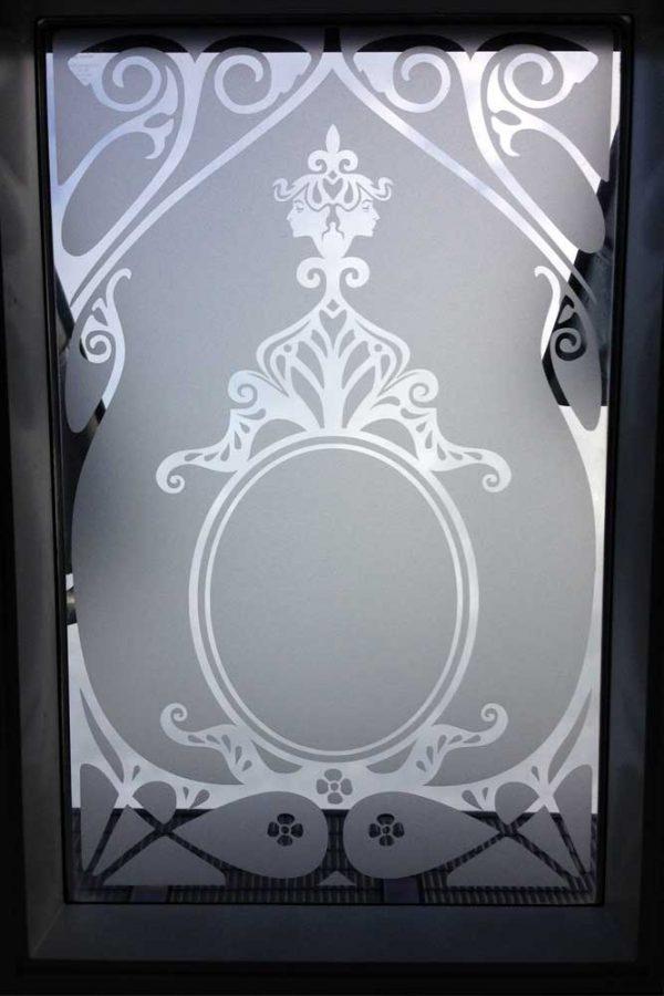 Artdeco Glasdekor, Sichtschutz, Äzglas, Milchglas, Ornament