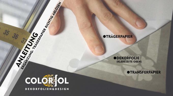 Anleitung Glasdekorfolie: Zur besseren Handhabung bei der Montage der Dekorfolien mit Transferpapiergibt es eine weitere Anleitung.