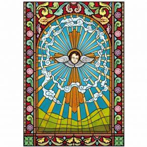Kirchenfenster aus selbstklebender Folie. Kirchenfenster als Sichtschutz und Fensterdekor - Kirchenfenster Motiv