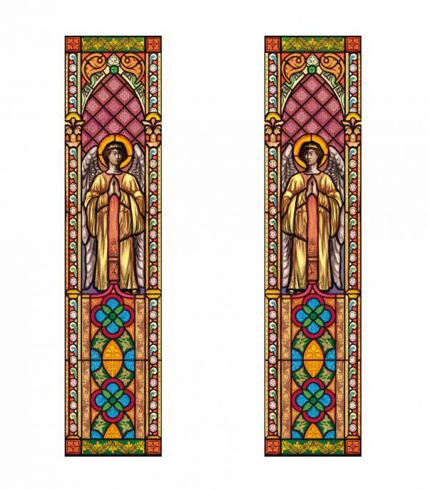 Fensterdekor Kirchenfenster aus selbstklebender Folie. Kirchenfenster als Sichtschutz und Fensterdekor - Kirchenfenster Motiv