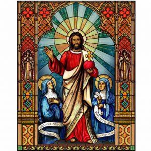 Kirchenfenster Folie als Sichtschutz und Fensterdekor, mit individualisierbaren Text - Kirchenfenster Motiv