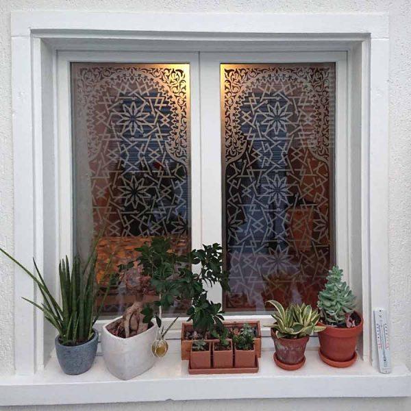 Glasdekorfolie orientalisch marokkanischer Stil von aussen