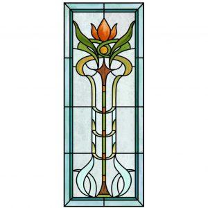 Buntglas Jugendstil Fensterfolie im floralen artdeco - herbstlich